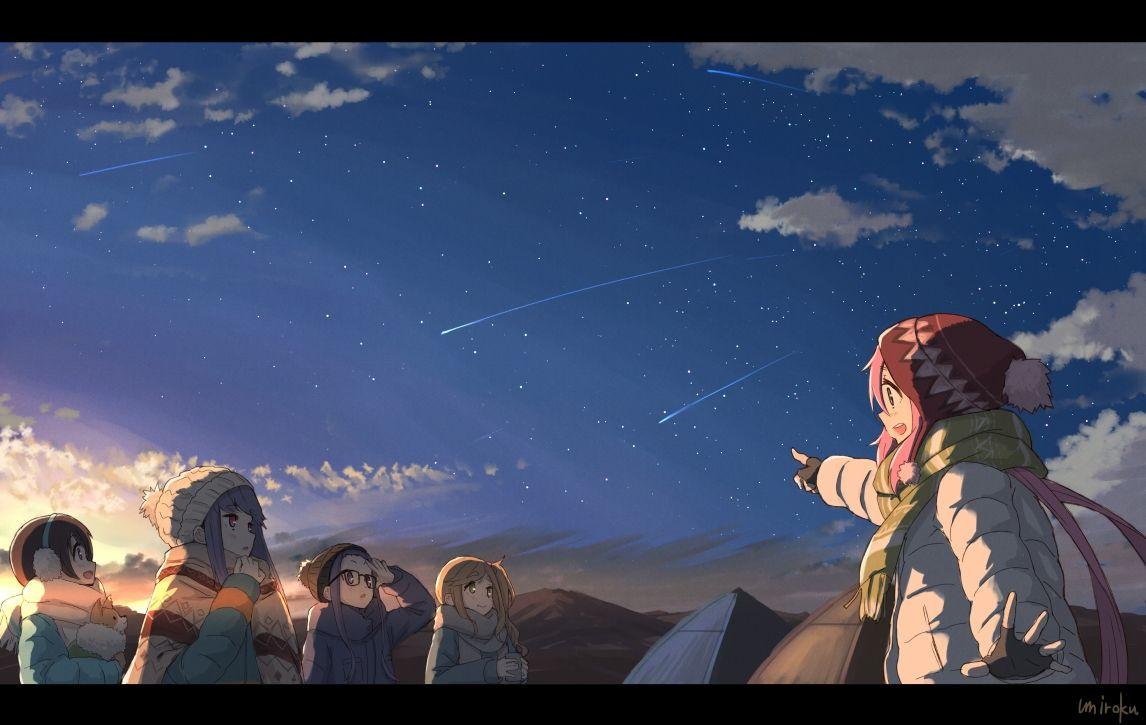 Shooting Stars ゆるキャン Credit Twitter Com Umiroku Status Photo 1 Utm Content Buffer8067c Utm Medium Social Utm Sou ゆるキャン 蛍火の杜へ イラスト