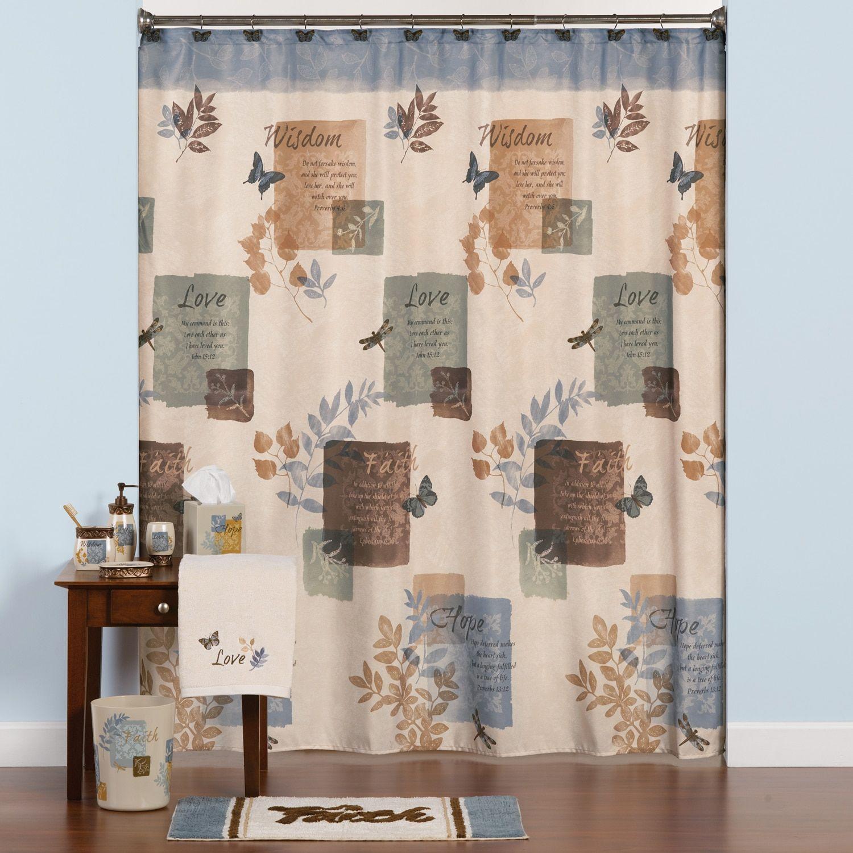 Saturday Knight Ltd Faith Shower Curtain Collection Primitive