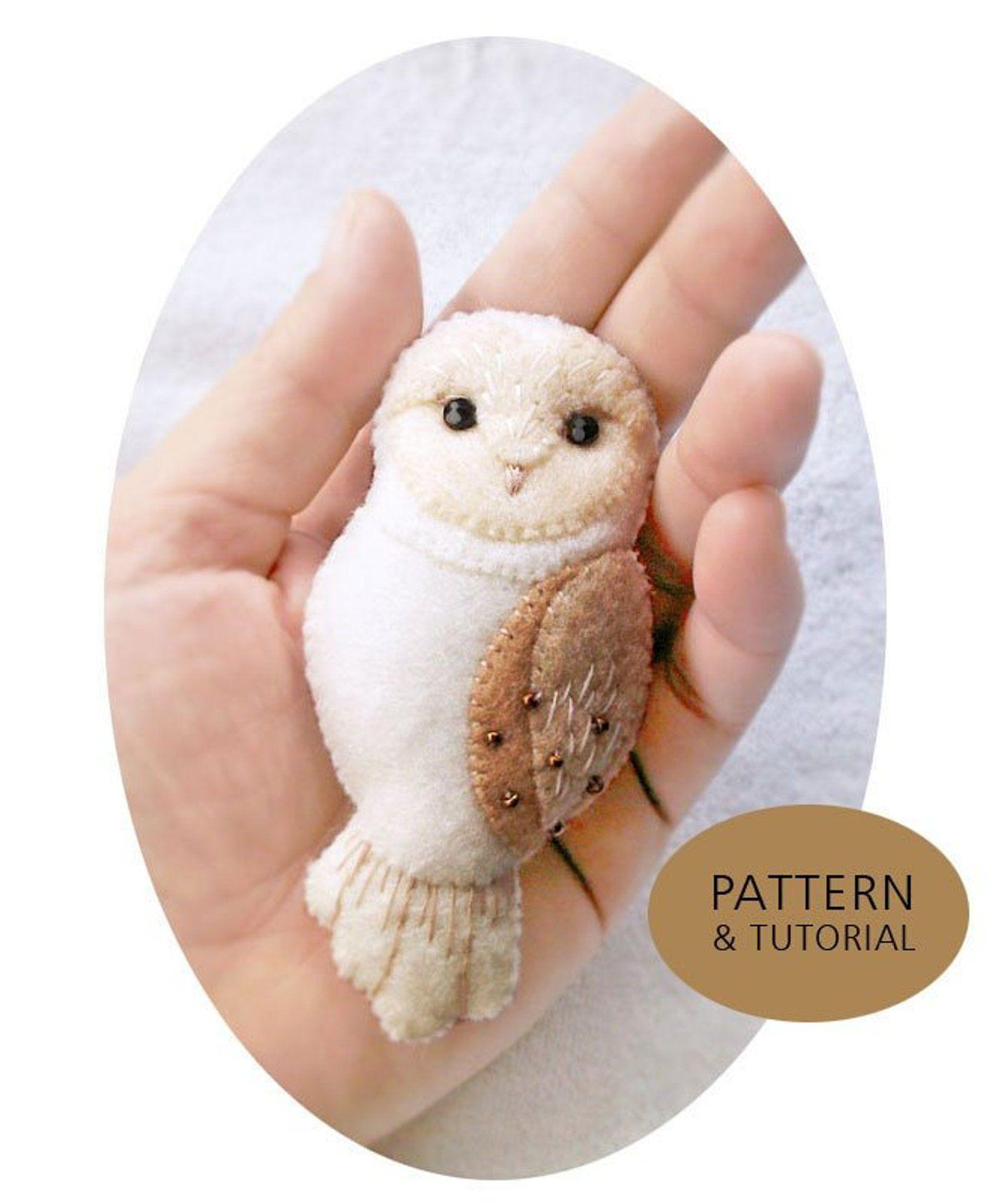 Pdf Pattern Of Barn Owl Felt Brooch Ornament Woodland Felt Etsy Felt Owls Felt Owl Felt Crafts