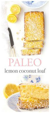 This glutenfree lemon coconut loaf is zesty refreshing and so flavourful Perf