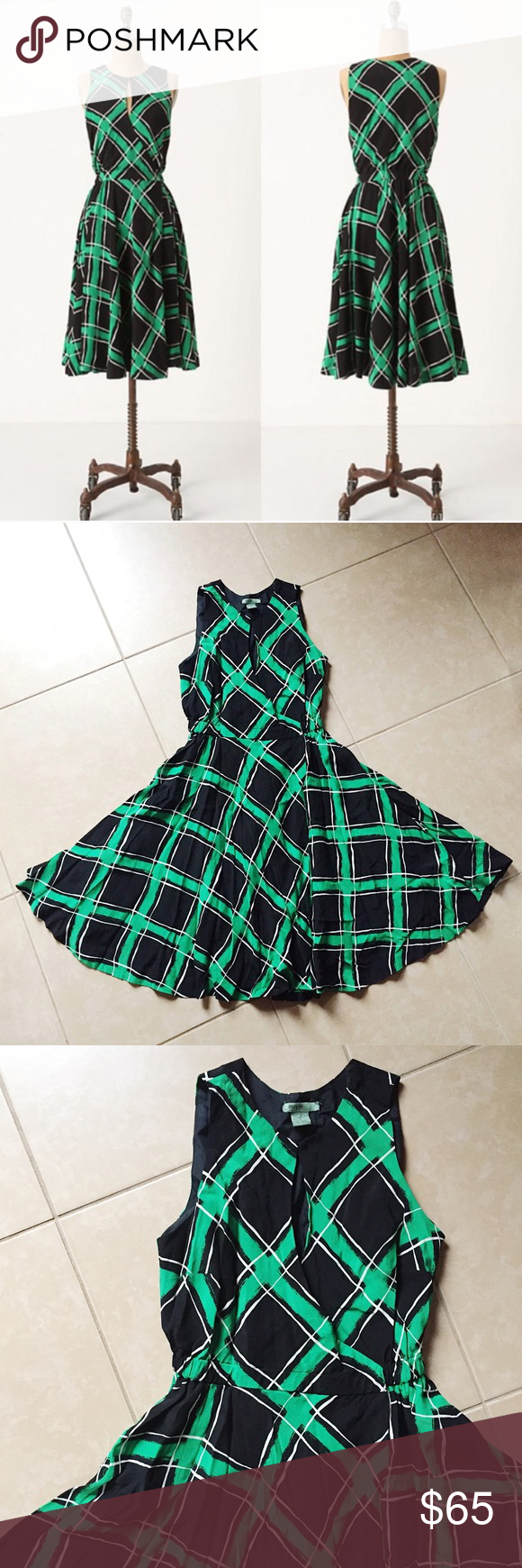 Maple Anthropologie Across The Land Plaid Dress Plaid Wrap Dress Plaid Dress Clothes Design [ 1740 x 580 Pixel ]