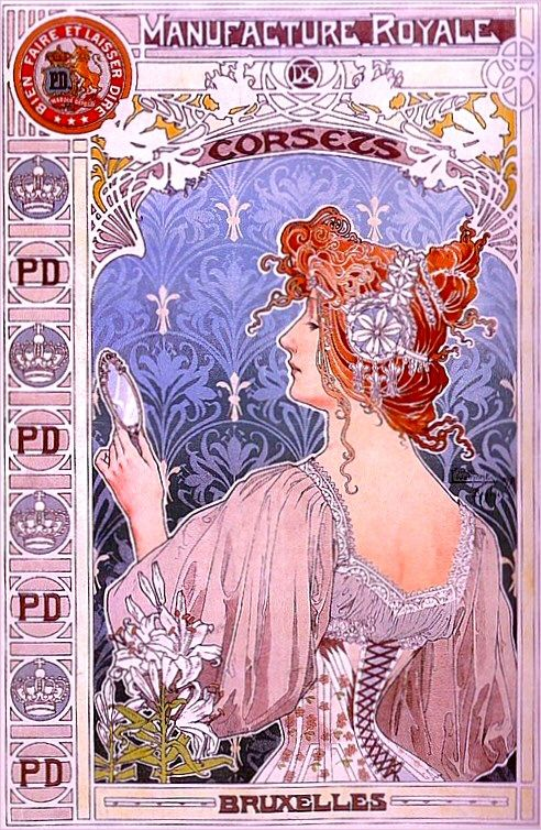 Henri Private Livemont advertising poster. 1887