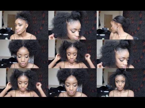 Easy Half Hawk On Short Natural 4c Hair Holiday Protective Hairstyle Betterlengt Natural Hair Styles Protective Hairstyles For Natural Hair 4c Natural Hair