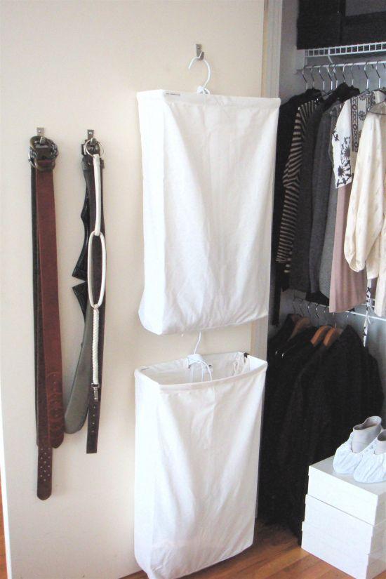 Hanging Hampers Clothes Closet Organization Canvas Laundry Hamper Closet Organisation