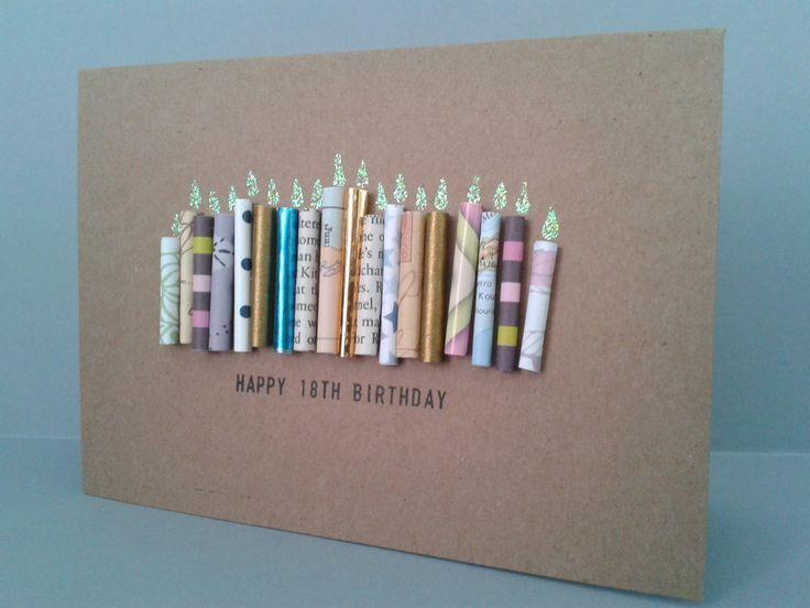 18. Geburtstagskerze Karte personalisiert 18 heute von Gur ... - Carola #candles