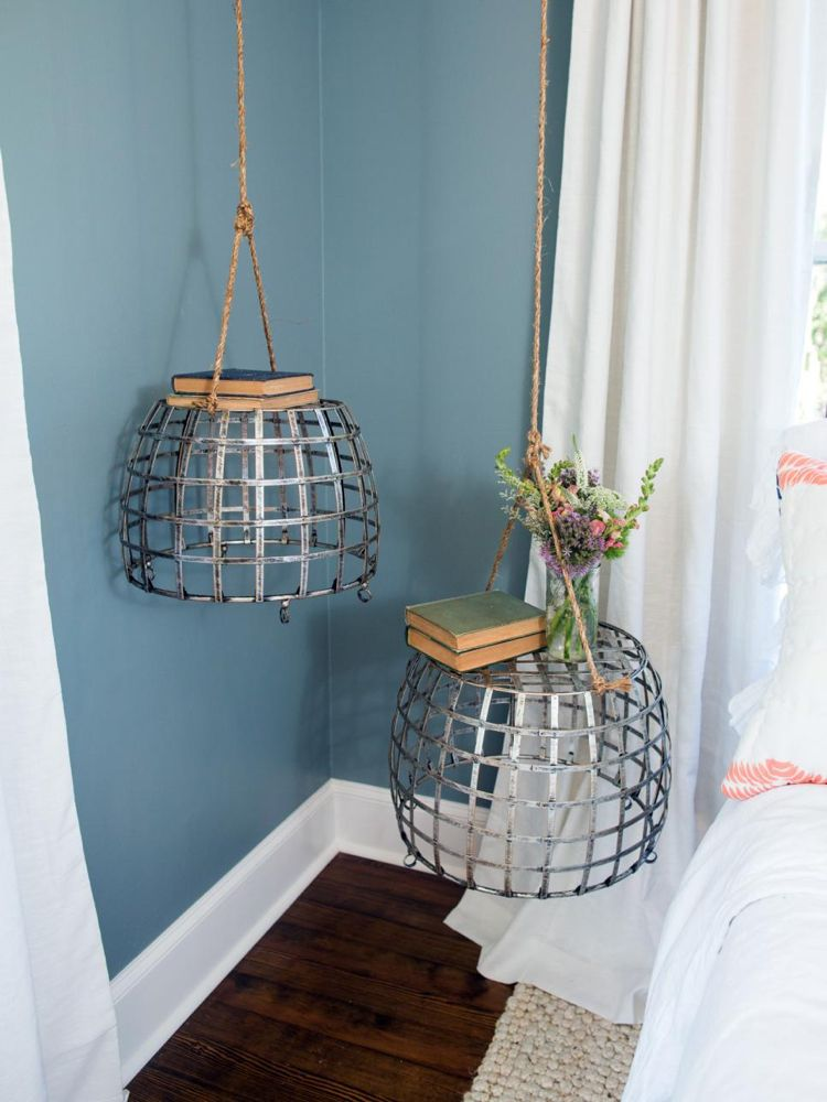 Nachttisch selber bauen und an der Decke hängen Wohnideen fürs - wohnideen fürs schlafzimmer