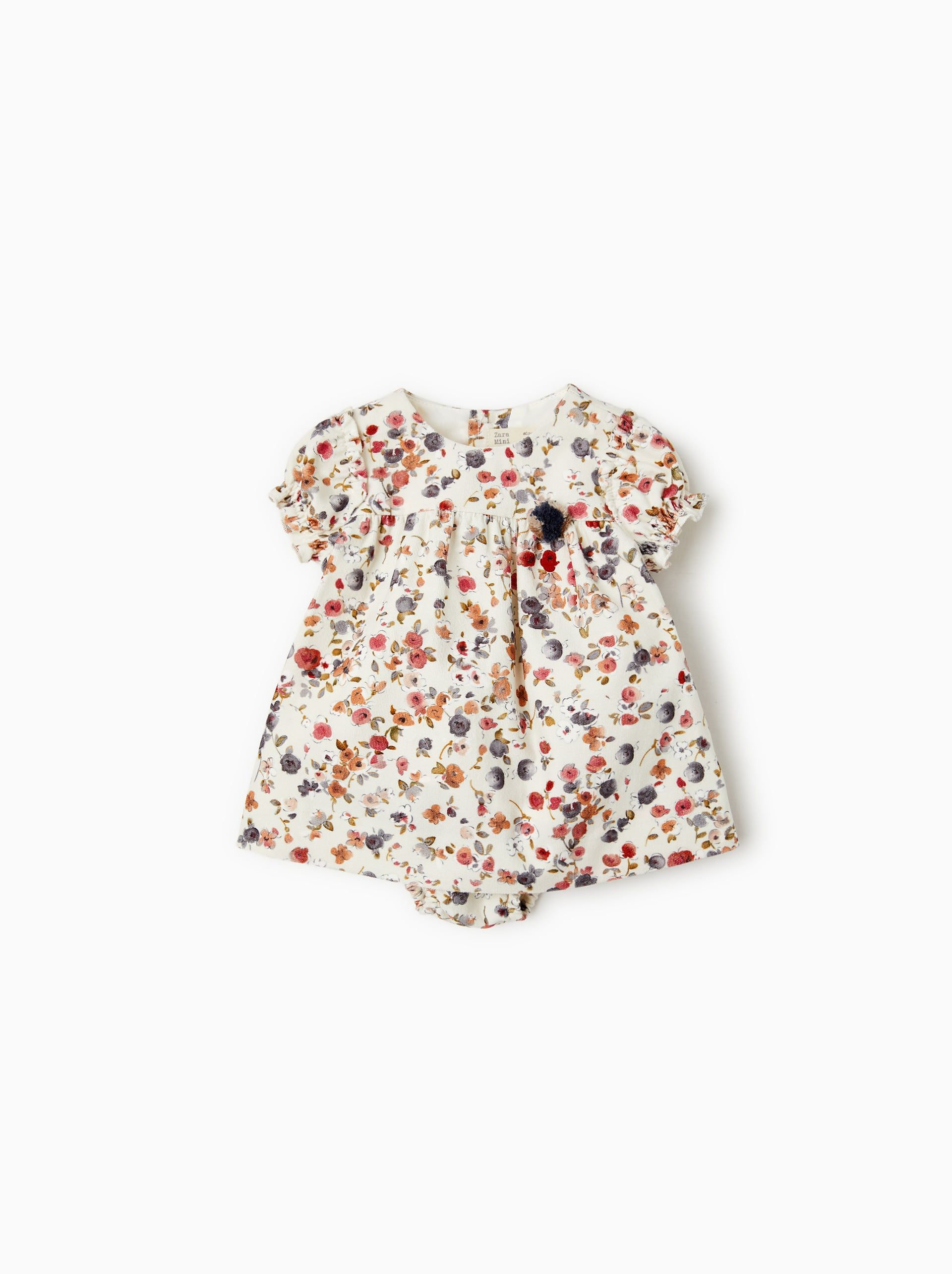 0b4eed118f Image 1 of FLORAL FINE WALE CORDUROY DRESS from Zara | Style Boards ...
