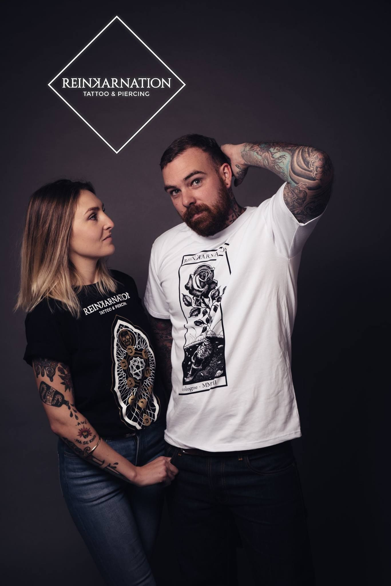 Shirtdesign by Cigla   reinkarnationtattoos tattoos shirt design skull artwork model