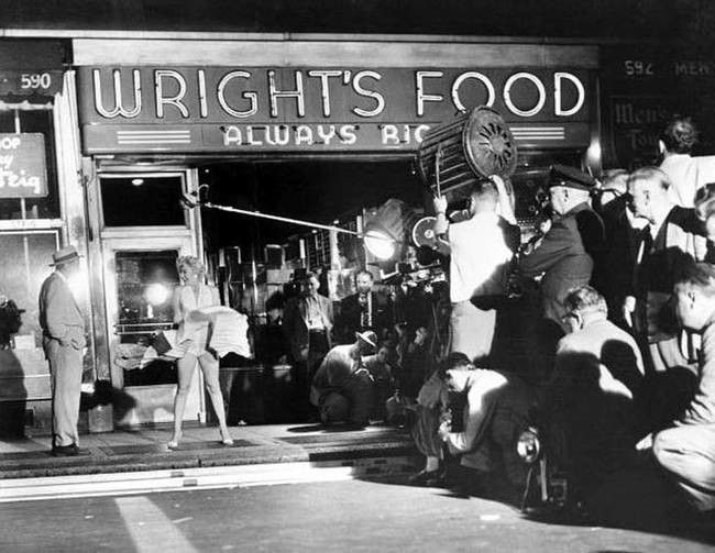 A behind the scenes look at the iconic image of Marilyn Monroe standing over a subway grate.