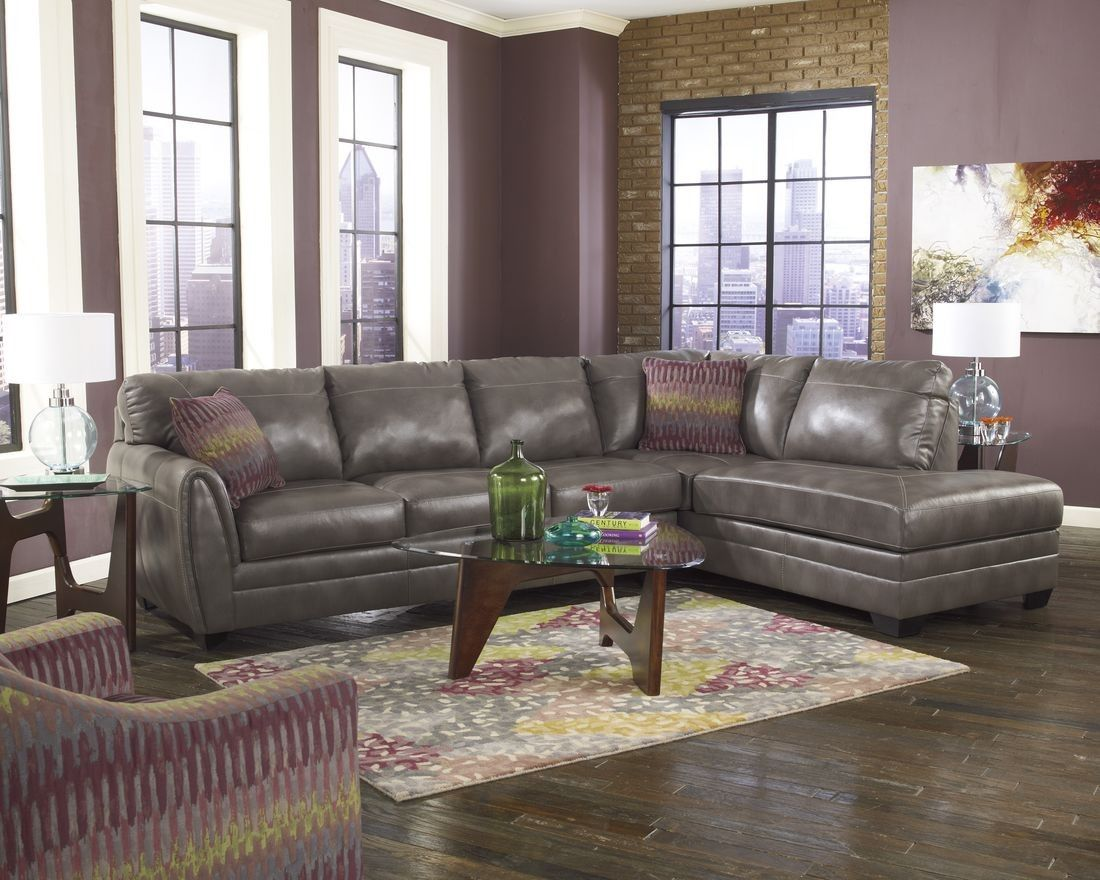 Ashley Furniture Sarai Sectional In Gray Modern Couches Living