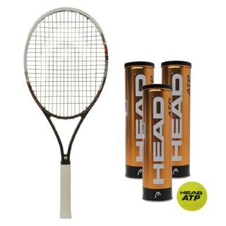 New Head Graphene Speed Tennis Racket With A Dozen Head Atp Tennis Balls Free 145 Tennis Tennisracket Tennisdeal Tennis Racket Tennis