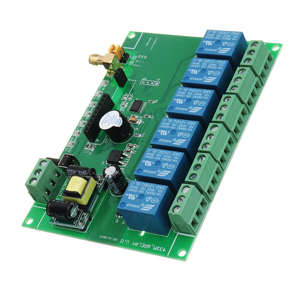 Dc 12v 6 Channel Diy Receiver Relay Module Board With Wireless Rf Remote Control Switch Module Board From Electronics On Banggood Com Wireless Remote Control Relay