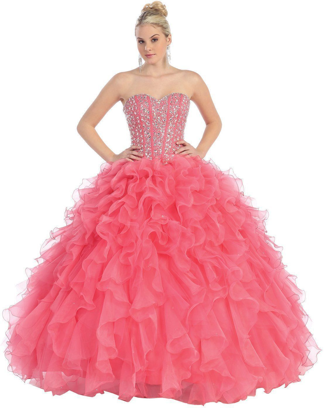Quinceanera Long Ballgown Formal Prom Dresses | Pinterest | Vestido ...