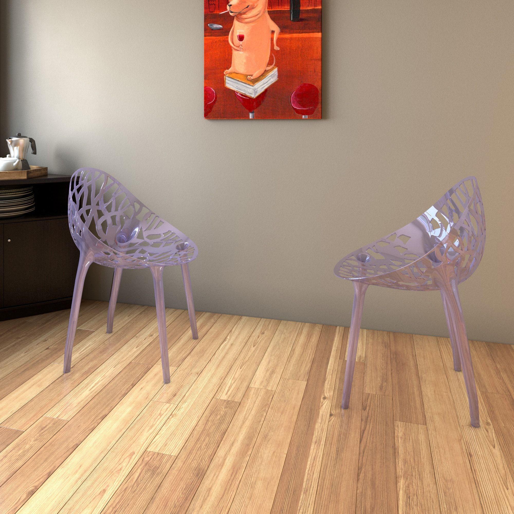 Porch U0026 Den Stonehurst Medford Transparent Stacking Dining Chair (Clear)  (Plastic)