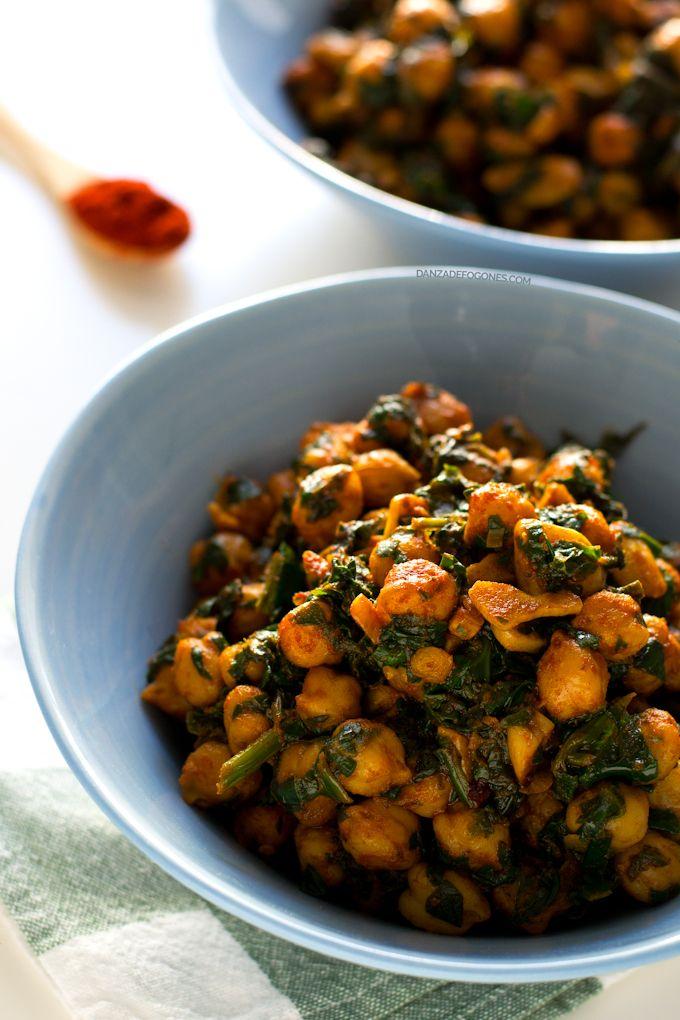 Recetas Simples De Cocina | Espinacas Con Garbanzos Receta Recetas Simples Cocina