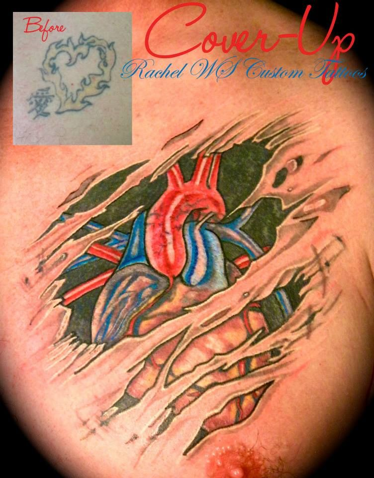 """Cover-Up ~ Chest ~ """"Heart"""""""