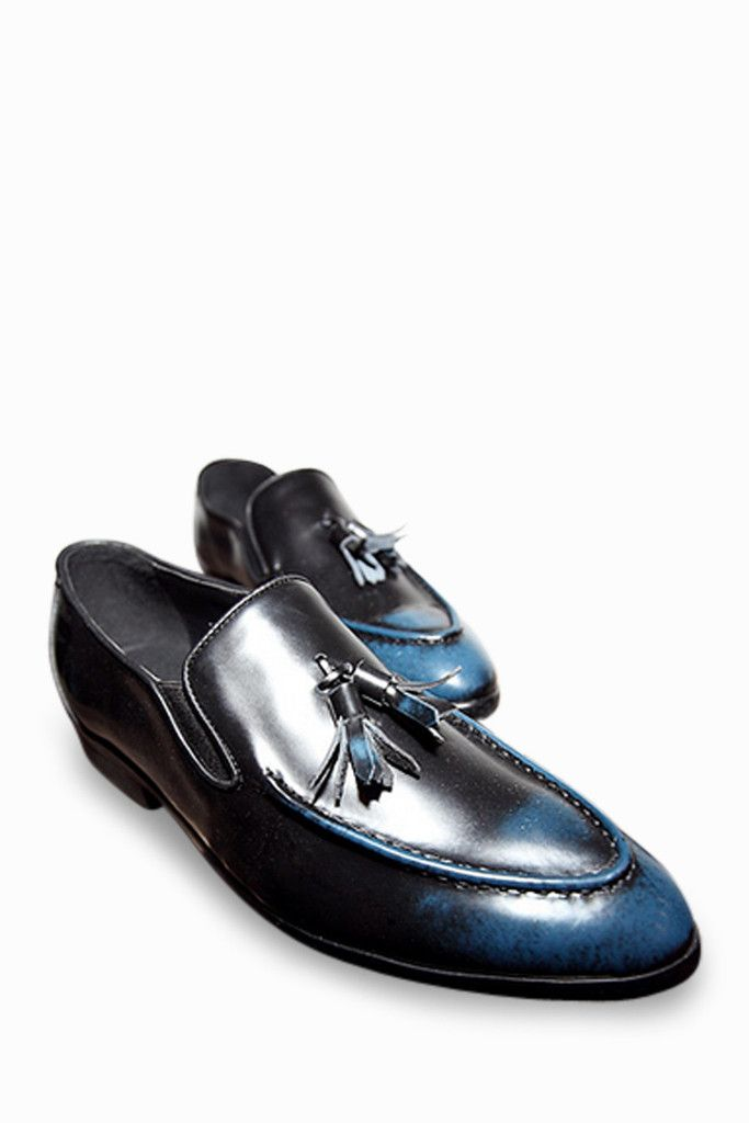 Brogue Loafers In Blue With Tassel Front. Free 3-7 days expedited shipping  to 3612634b248e