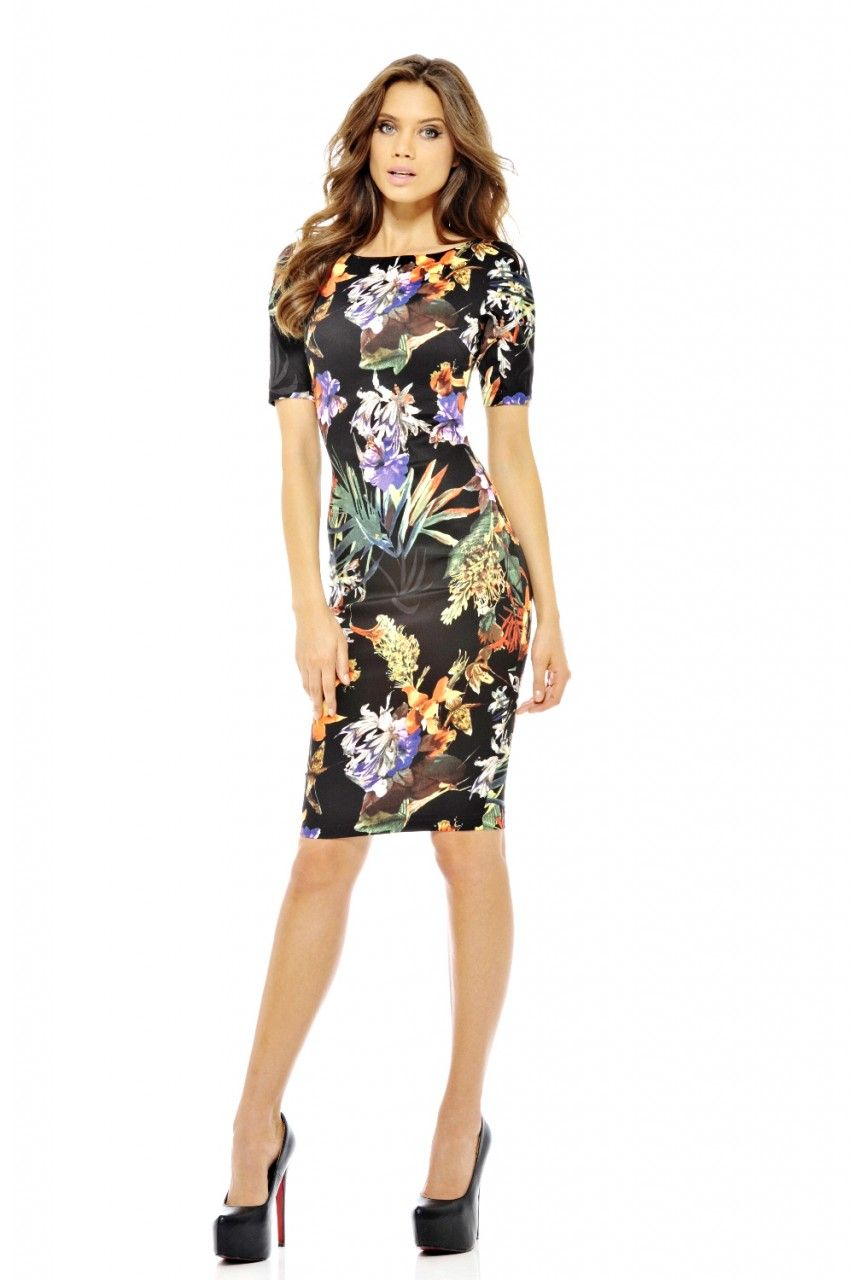 Tropical Onyx Midi Dress | pretty wish list | Pinterest