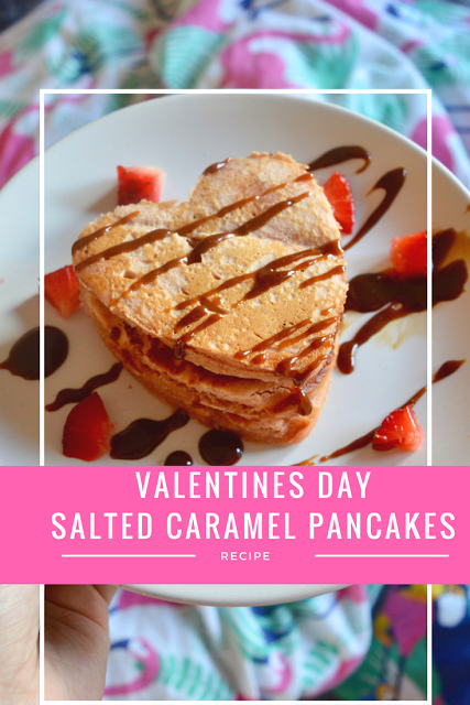 Valentine's Day Salted Caramel Pancakes | Recipe