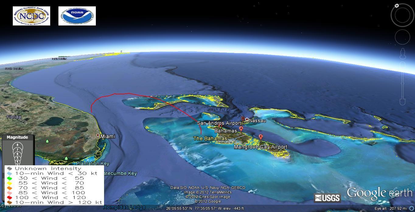 bermuda triangle  Google Earth  Wind Intensity  bermuda