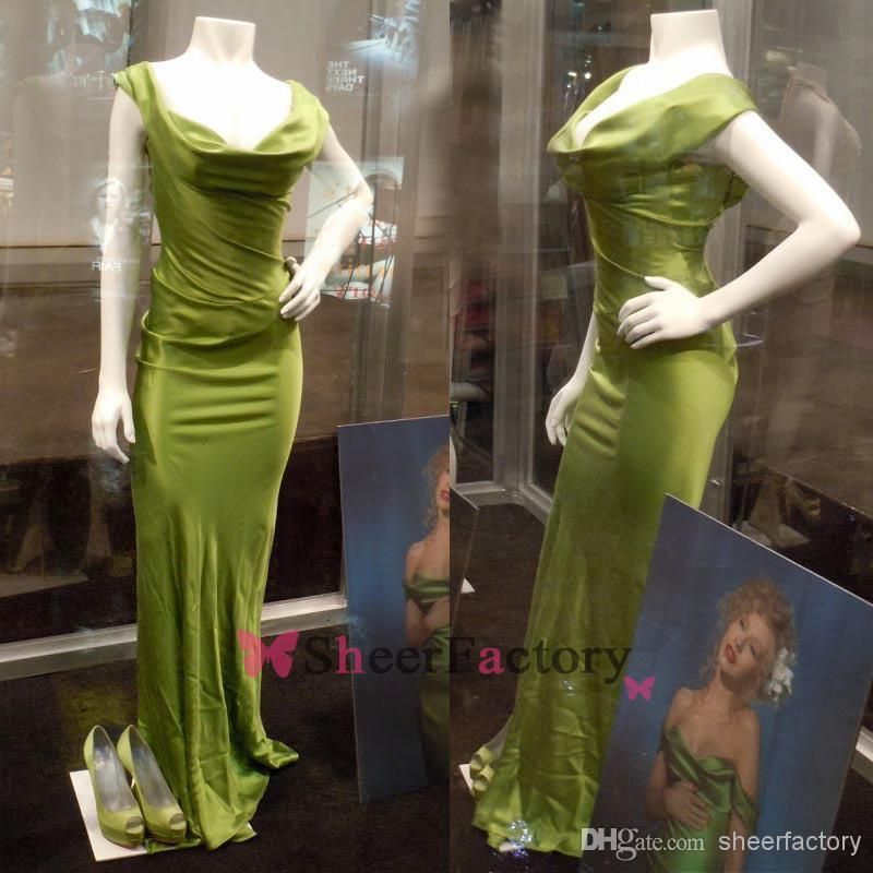 Christina Aguilera Green Dress Burlesque Replica Off the