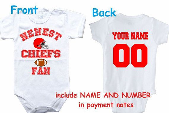4fa056397a2 Baby bodysuit Newest fan Chiefs customized personalized NAME NUMBER ...