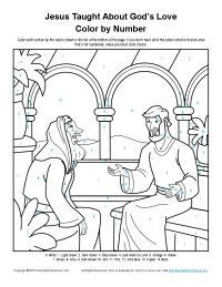 Jesus Taught About God Color By Number Page Coloring PagesColoring