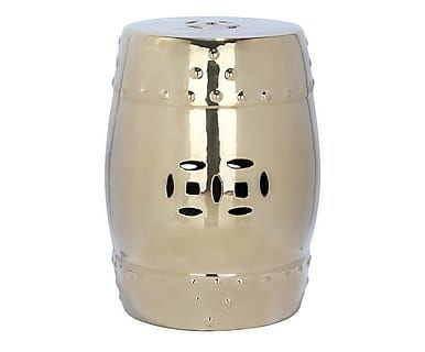 Sgabello in ceramica mali oro cm passion pouf