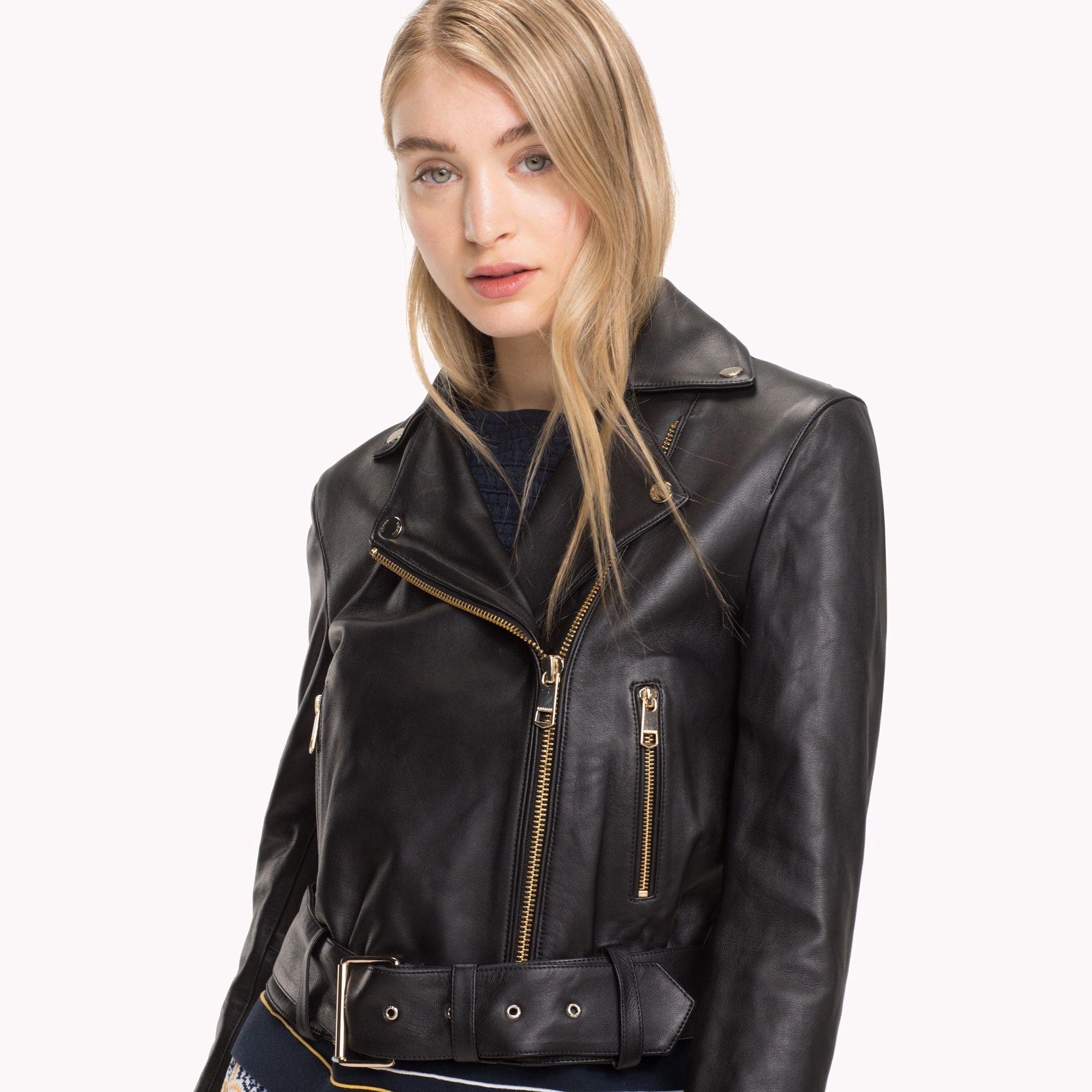Tommy Hilfiger Leather Biker Jacket 2 Gold Leather Jackets Women Leather Outfit Leather Jacket [ 2000 x 2000 Pixel ]