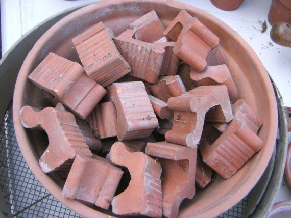 30 Vintage Terra Cotta Plant Pot Feet From 1950 S Assorted Sizes Terracotta Plant Pots Terracotta Frostproof