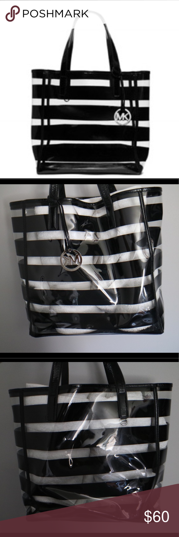 3b099ccc890c Michael Kors Eliza Clear Tote Beach Bag Lightly used, small scrape in front  bottom of