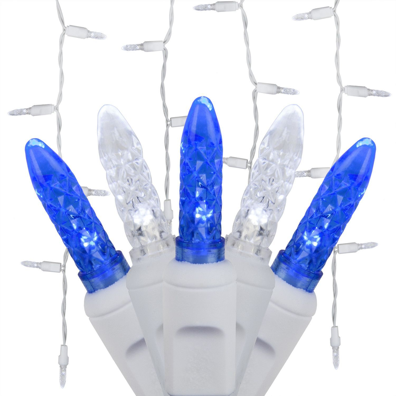 Blue White Icicle Lights, LED Energy Star | Outdoor Christmas ...