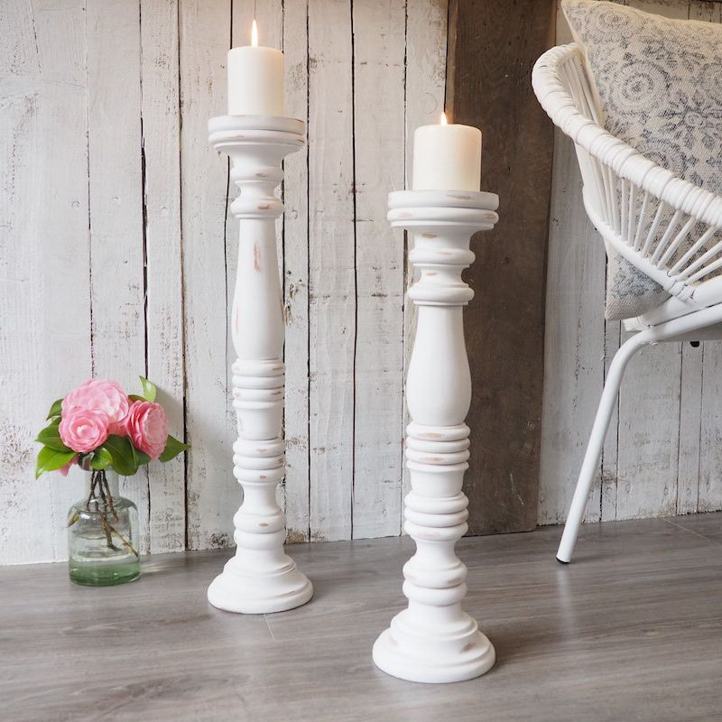 Tall Wooden Candle Sticks Large Pillar Candle Holders Za Za Homes Wooden Candle Sticks Floor Candle Holders Tall Floor Candlesticks