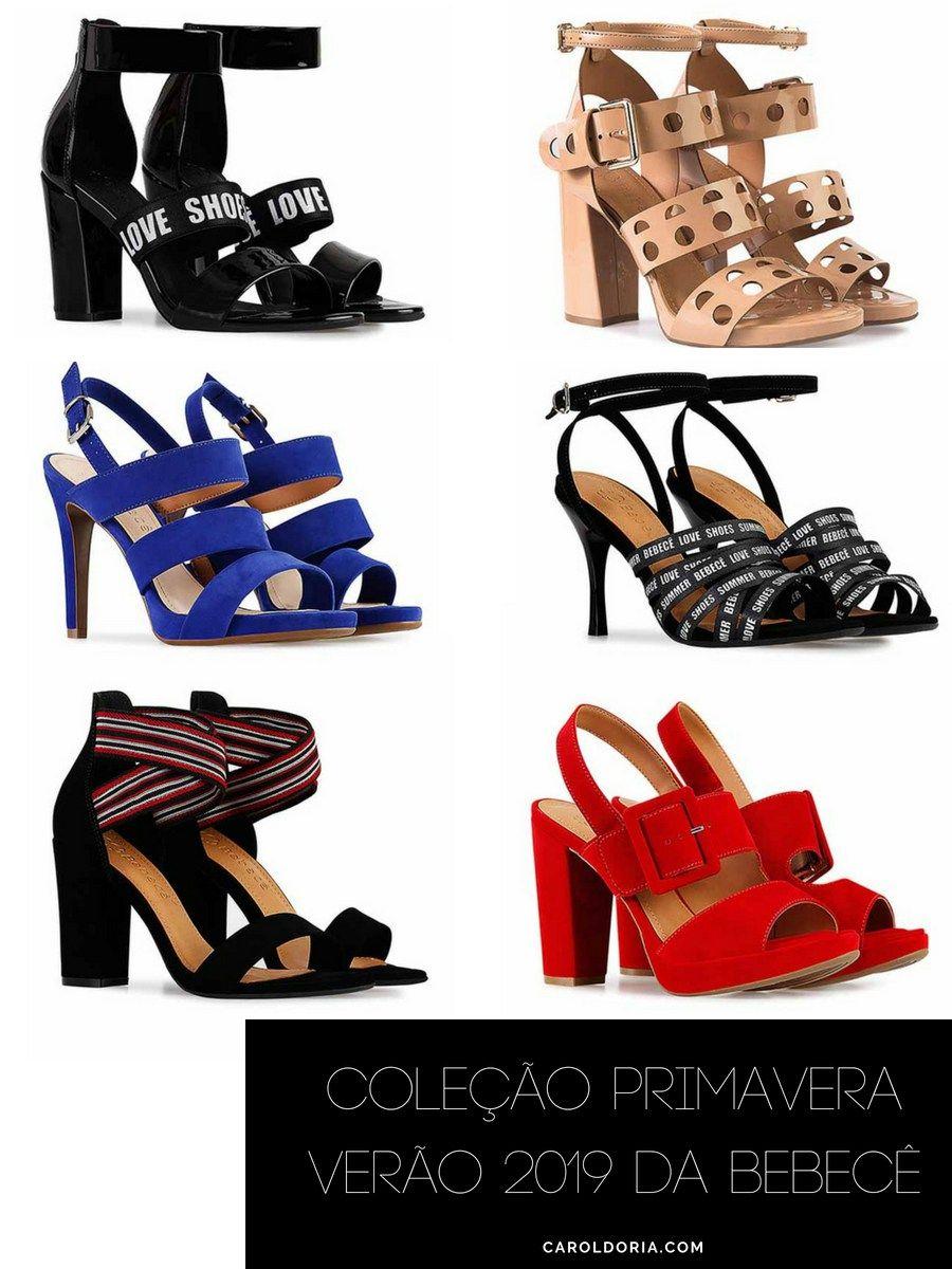 929d84ef0 Coleção Primavera Verão 2019 da Bebecê - Carol Doria, sapatos femininos,  sapatos, calçados