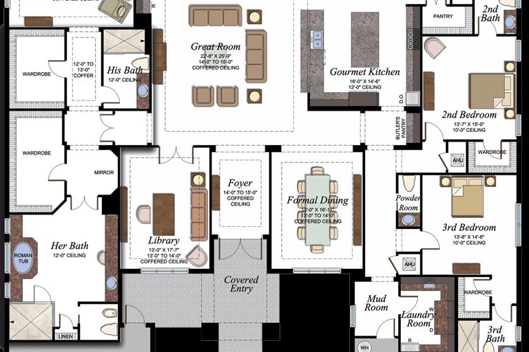 Versailles Plan Florida Real Estate Gl Homes Florida Real Estate Floor Plans House Plans