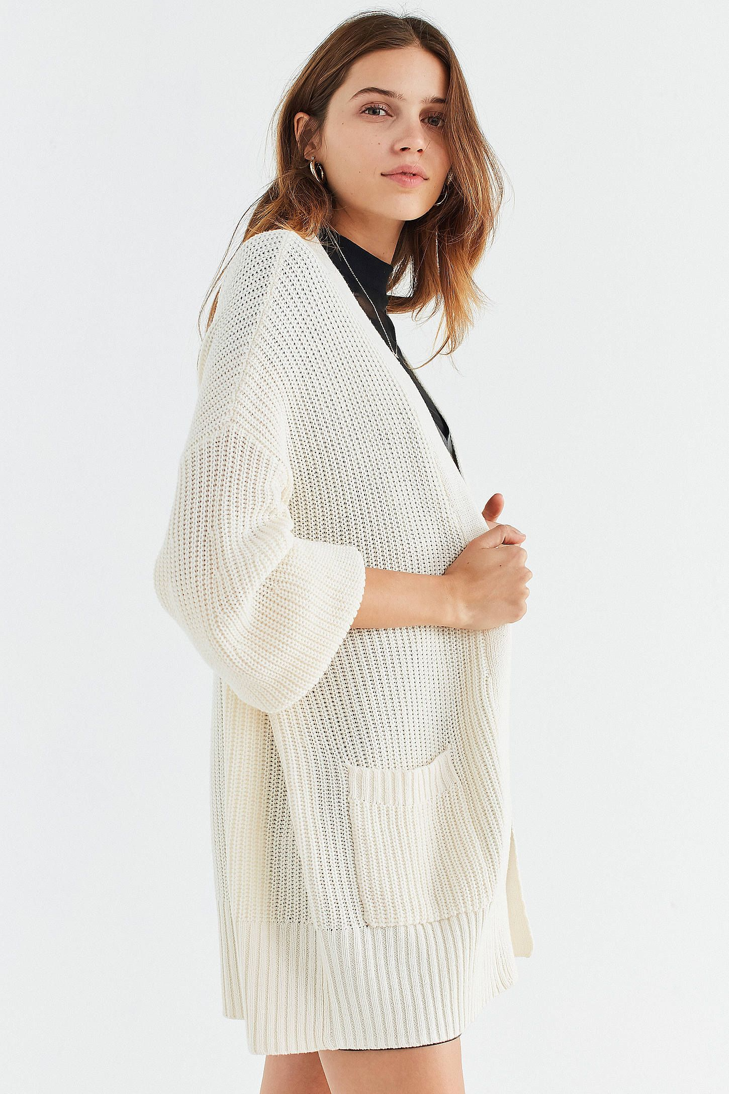75d407a5d4f72 BDG Charlie Dolman Cardigan in Ivory. BDG Charlie Dolman Cardigan in Ivory  Cardigans For Women, Sweater Cardigan, Urban Outfitters,