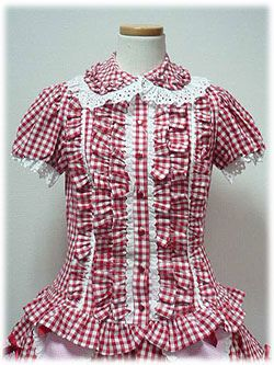 AP - Gingham Frill Blouse (2008) - Red