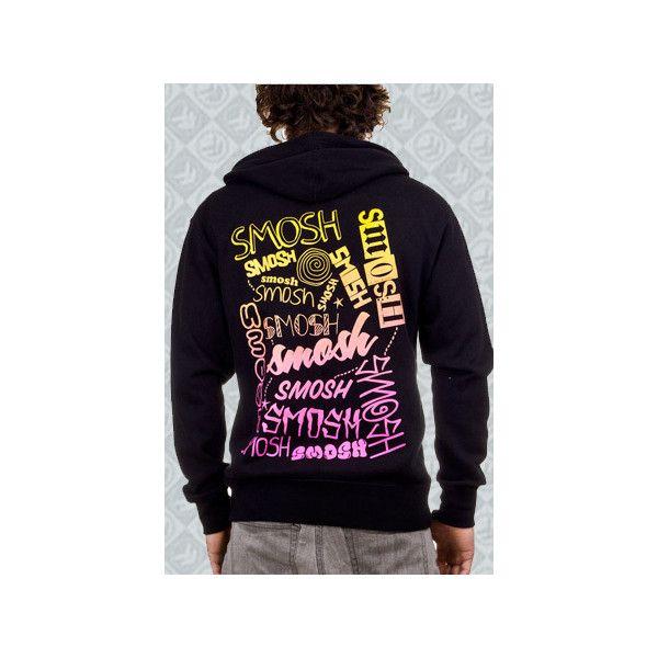 Smosh Gradient Zip Up Hoodie (Black) ❤ liked on Polyvore featuring tops, hoodies, hooded pullover, zip up tops, hooded sweatshirt, sweatshirt hoodies and zip up hoodies