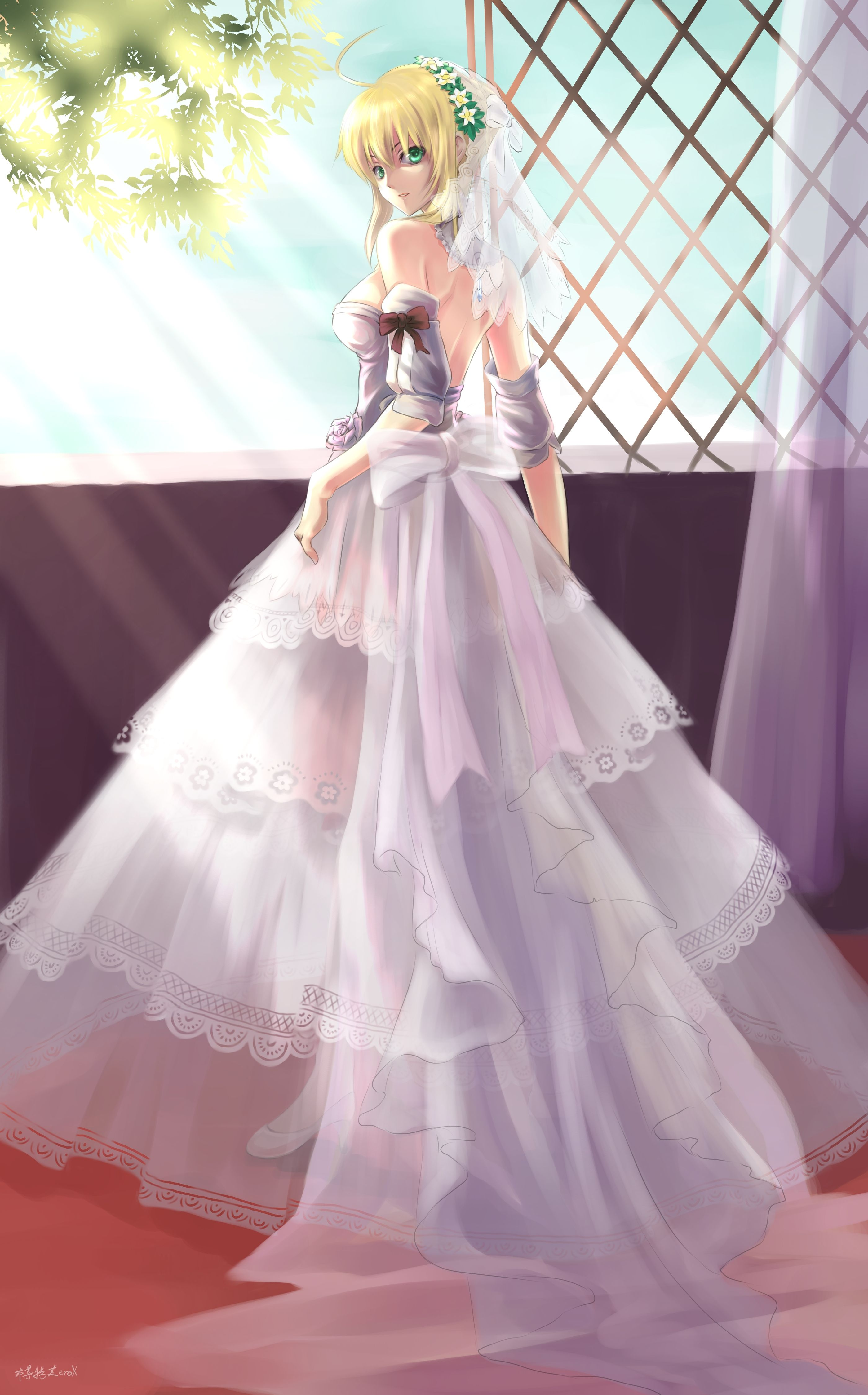 Saber Bride by Bzerox | Anime Wedding Dress | Pinterest | Fate stay ...