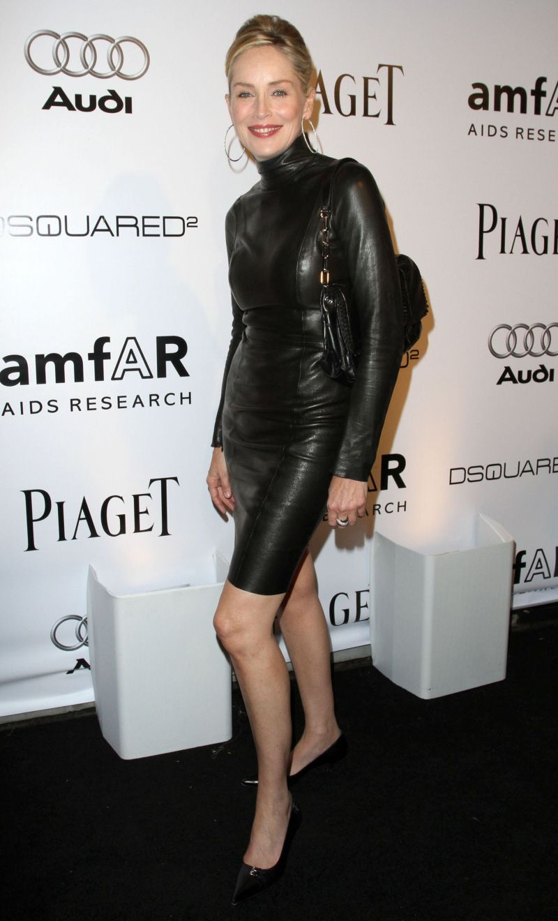 Sharon Stone leather dress | Clothing: Women - Leather | Pinterest