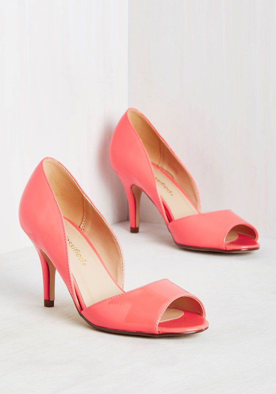 bf54c3476639 Spring to Mind Heel in Coral Gloss - Pink