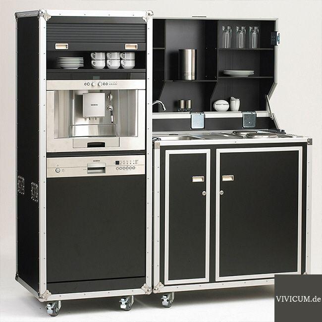 Messeküche kitcase mit beistellschrank mit geschirrspüler und kaffeevollautomat