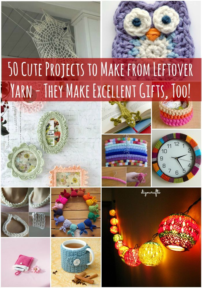 50 cute projects to make from leftover yarn they make - Muttertagsgeschenke diy ...