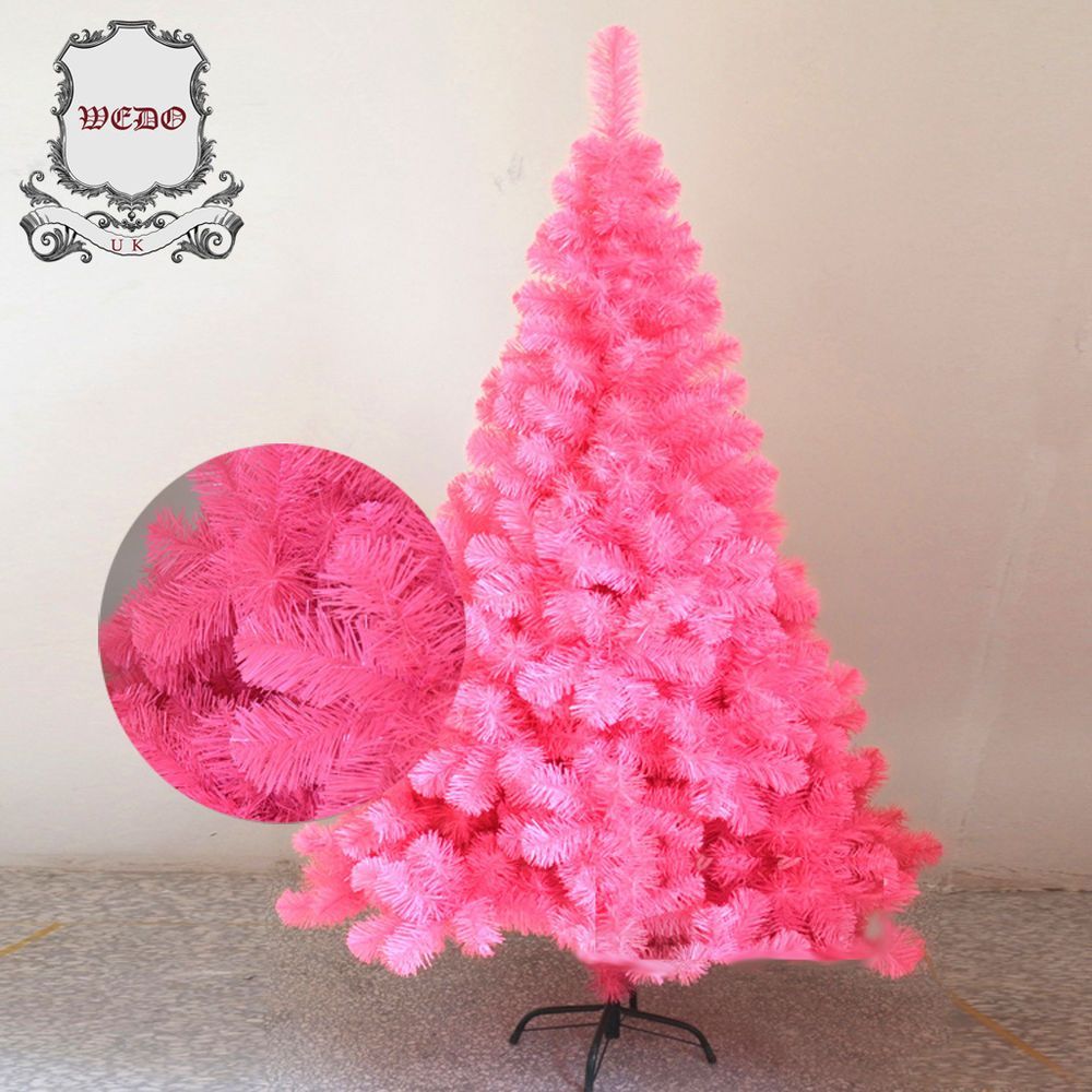 1 8m 6ft Pink Artificial Christmas Tree Xmas 180 Cm 6 Feet Pvc For Home S
