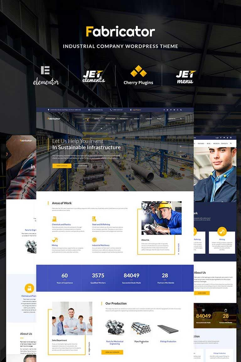 10 Top Rated Business And Services Best Wordpress Themes 2018 Industrial Companies Wordpress Theme Business Company