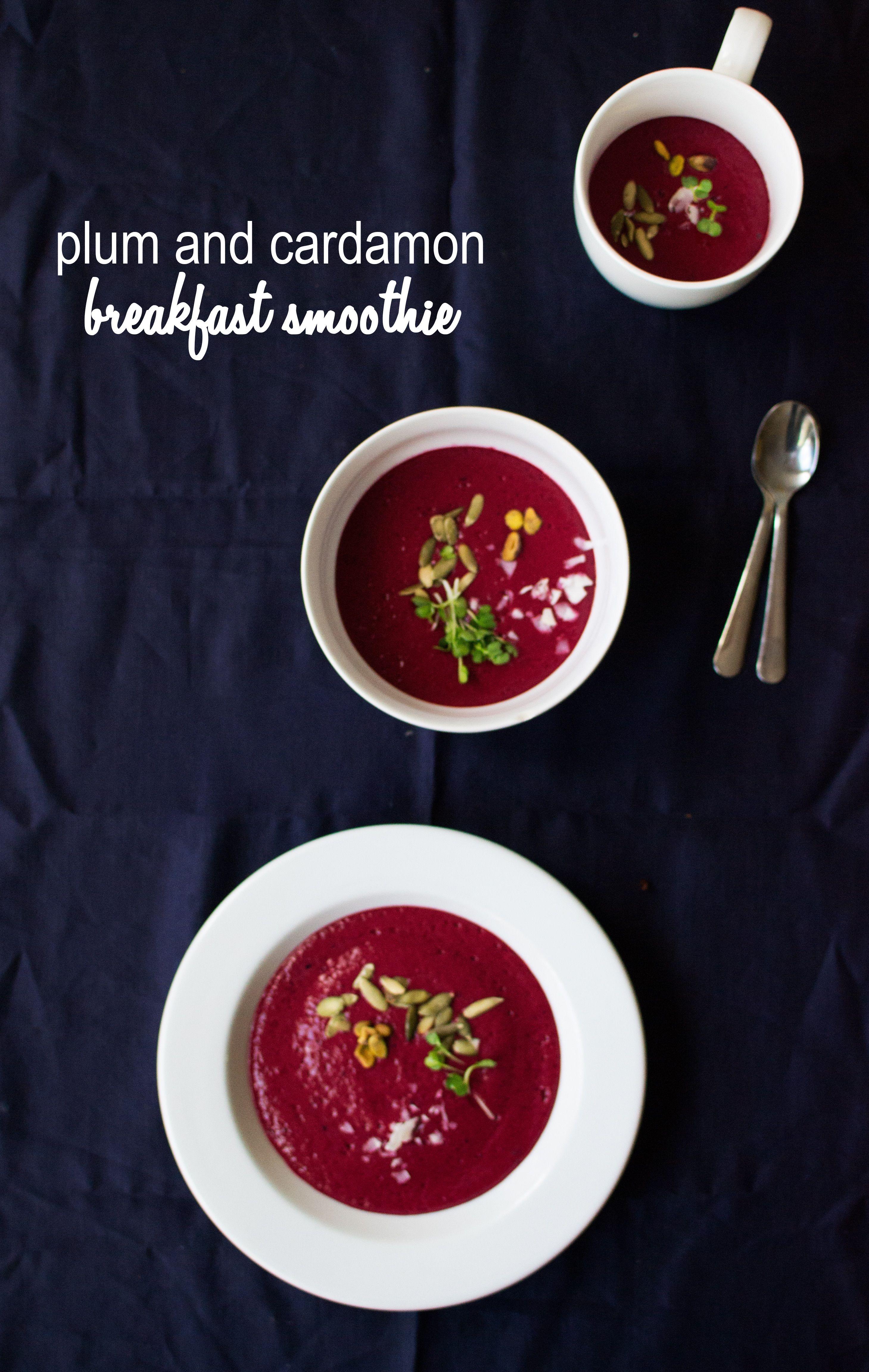 plum & cardamom smoothie bowl recipe | tea & stories