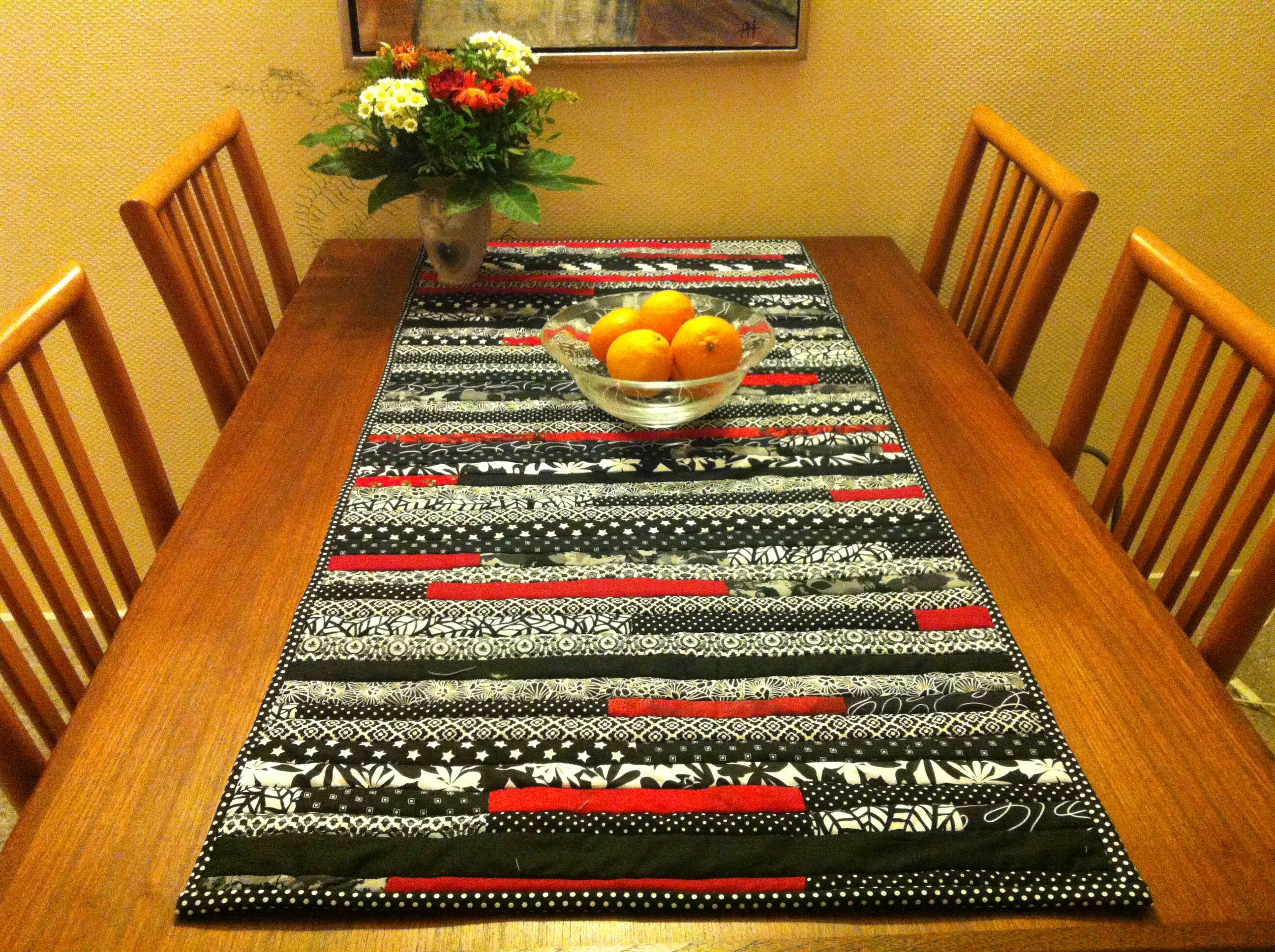 Bordløber quiltet på rullemadras