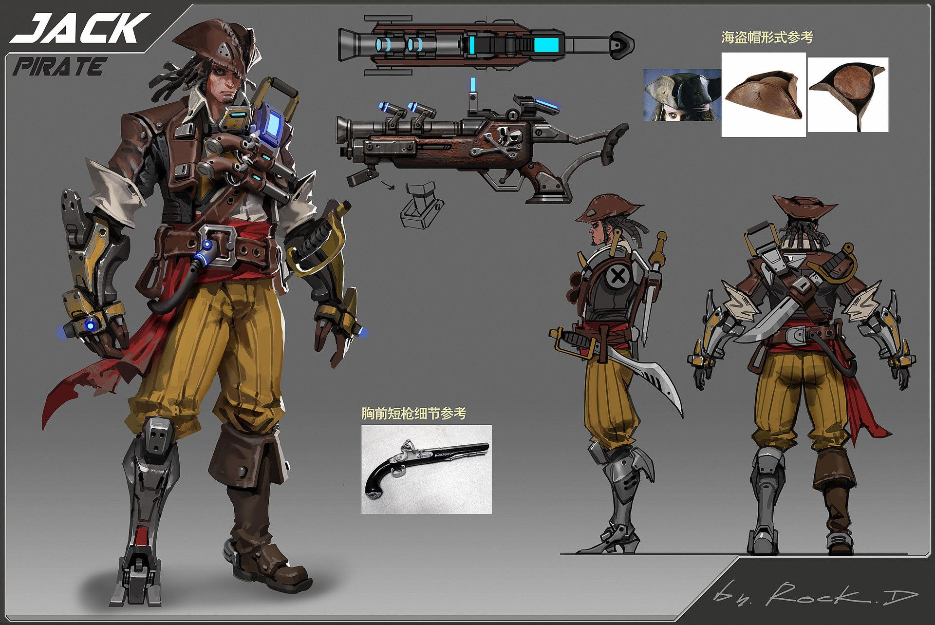 sci-fi pirate concept, Rock D on ArtStation at https://www.artstation.com/artwork/sci-fi-pirate-concept