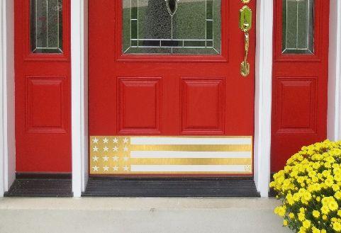 Brass USA Flag Door Kick Plate By Deck The Door Decor Zoom