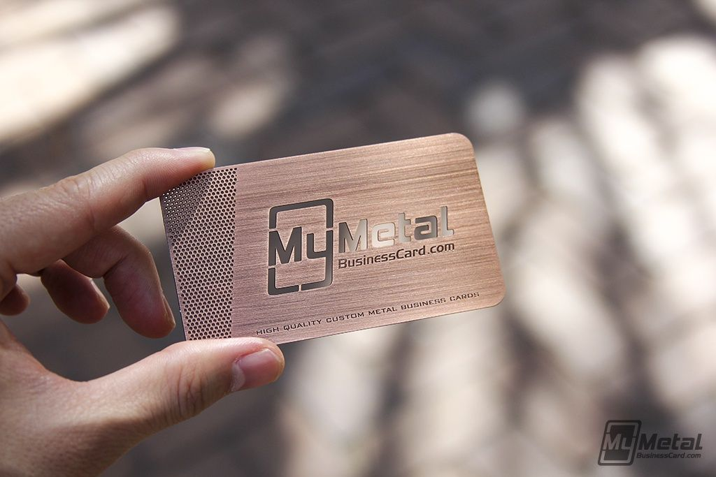 My Metal Business Card Copper Finish Business Card | Copper Finish ...